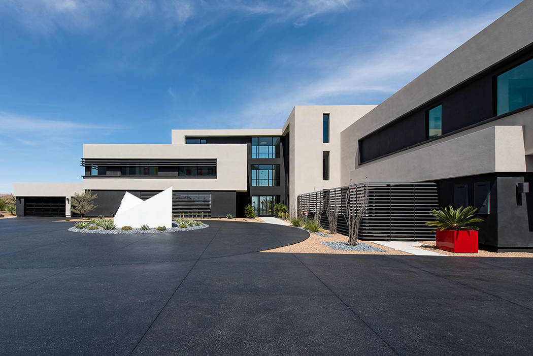 The 16,000-square-foot MacDonald home is designed like campus. (Simply Vegas)