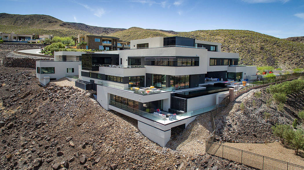 This MacDonald Highlands home has listed for nearly $15M. (Simply Vegas)