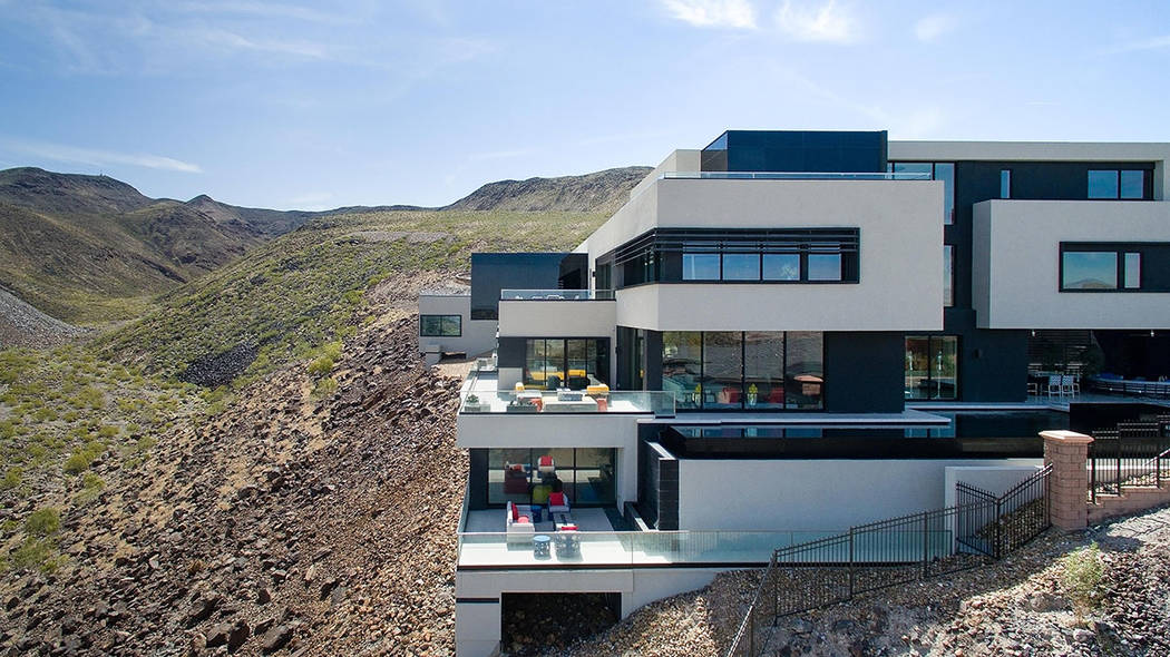 The home has four levels. (Simply Vegas)