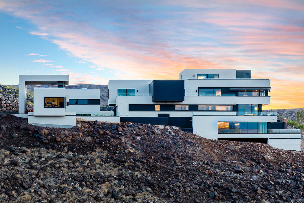 The home is on one of the highest elevated lots in the MacDonald Highlands community. (Simply Vegas)