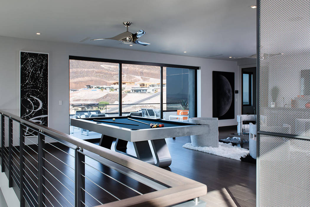 The master suite has a pool table and is very large. (Simply Vegas)
