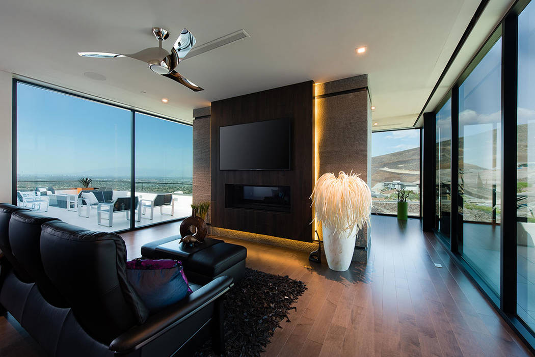 The master suite opens to a patio. (Simply Vegas)