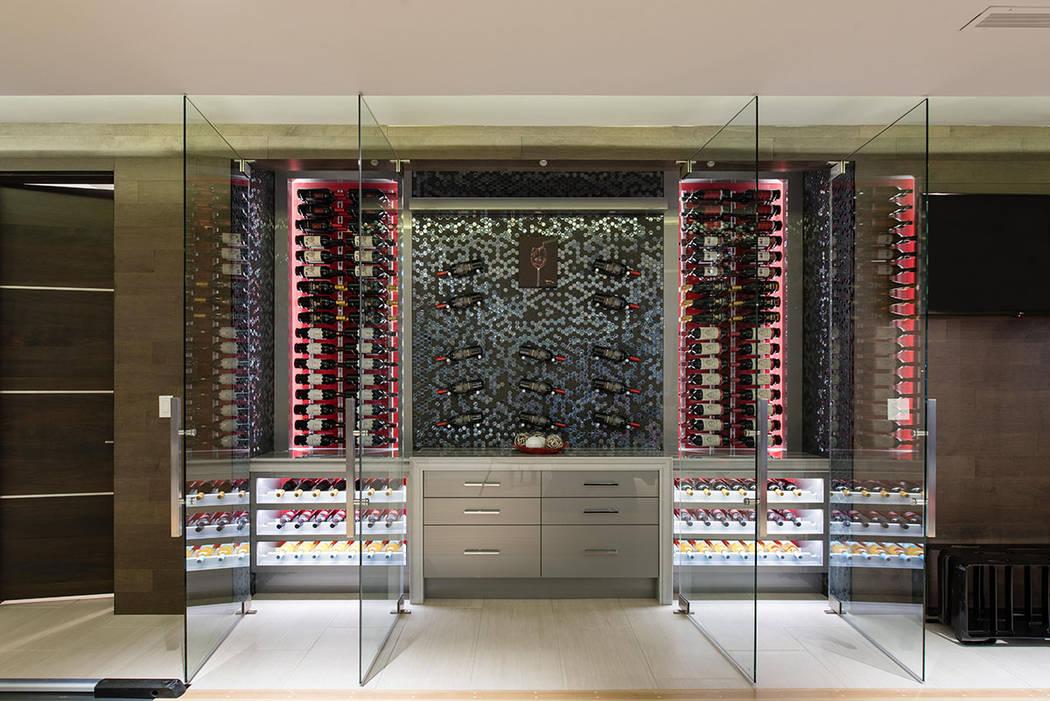 The wine room. (Simply Vegas)
