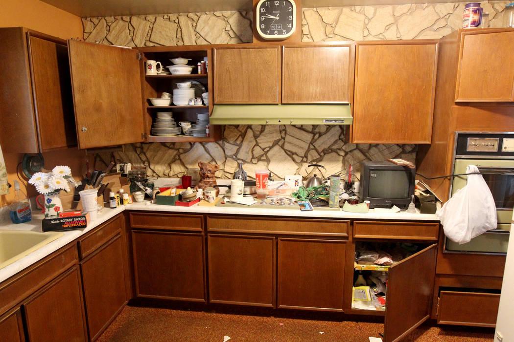 The Kitchen Of Home At 809 Palmhurst Drive In Las Vegas Thursday, Feb. 22