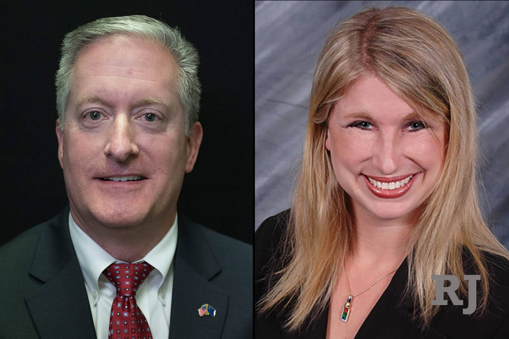 Keith Pickard, left, and Julie Pazina, right (Las Vegas Review-Journal)