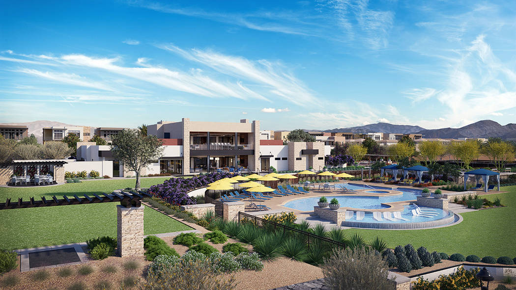 Construction has started on the Outlook Club, which is expected to be completed in the spring. (Trilogy in Summerlin)
