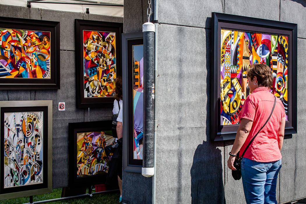 For art lovers, the festival includes more than 100 artists from Southern Nevada and surrounding states, each carefully selected by a jury of local art experts. (Summerlin)