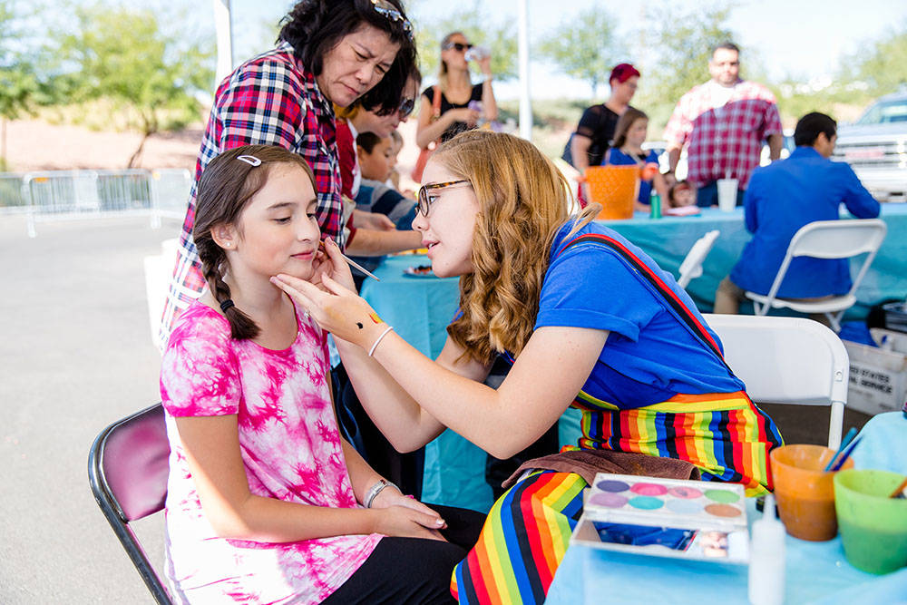 Interactive art activities at the Children's Pavilion, hosted by Discovery Children's Museum, include fall-themed art projects, balloon artists, face-painters and mascot meet-and-greets. (Summ ...