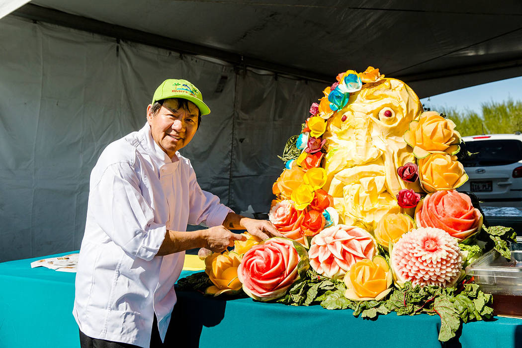 Chef Chan Boupha returns with live and colorful pumpkin and vegetable carving demonstrations at the annual Summerlin Festival of Arts. (Summerlin)