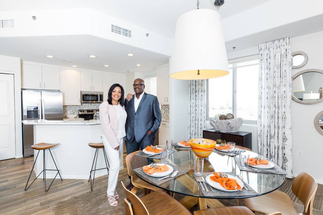 Marcellus and Pamela Jones, longtime Californians and loyal NFL Raiders fans, relocated to Nevada and purchased their dream home at One Las Vegas. (Mona Shield Payne One Las Vegas)