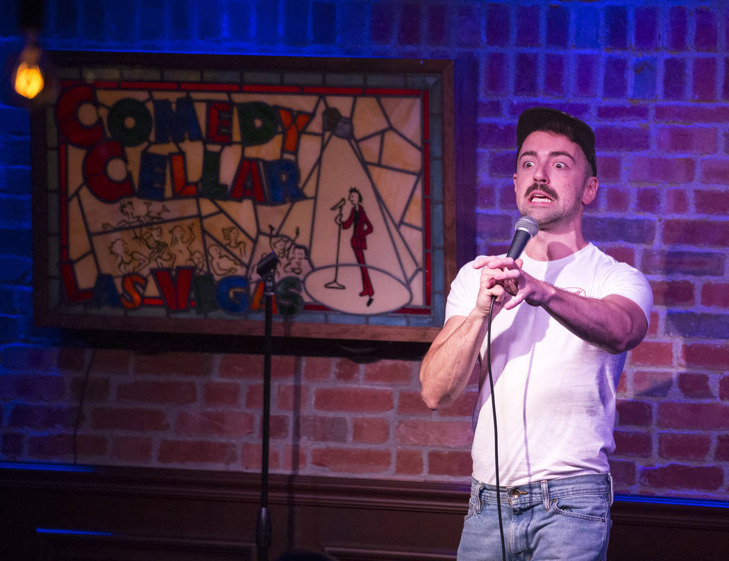 """""""Ghost Adventures""""-loving comedian Matteo Lane headlines a recent showcase-style line-up at Comedy Cellar. (Richard Brian Las Vegas Review-Journal @vegasphotograph)"""