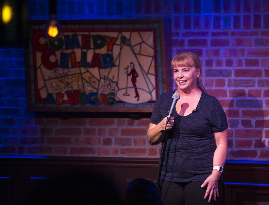 Comedian Traci Skene performs at the Comedy Cellar inside the Rio hotel-casino in Las Vegas on Wednesday, Oct. 3, 2018. Richard Brian Las Vegas Review-Journal @vegasphotograph