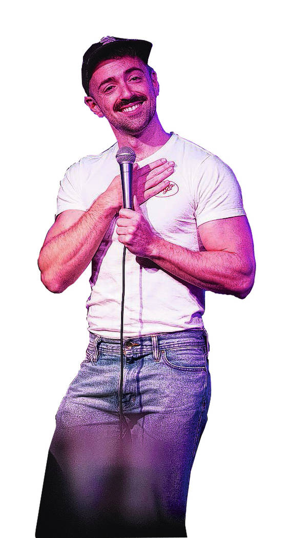 Comedian Matteo Lane performs at the Comedy Cellar inside the Rio hotel-casino in Las Vegas on Wednesday, Oct. 3, 2018. Richard Brian Las Vegas Review-Journal @vegasphotograph