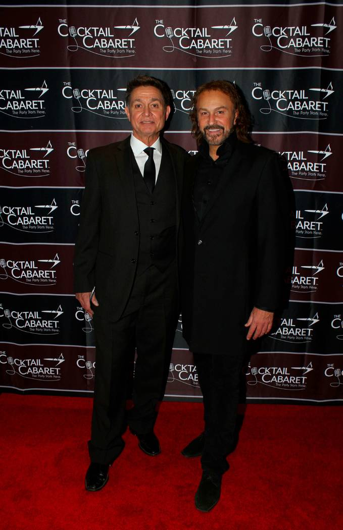 """Philip Fortenberry and Keith Thompson are shown at the opening of """"The Cocktail Cabaret"""" at Caesars Palace on Dec. 17, 2017. (Ira Kuzma)"""