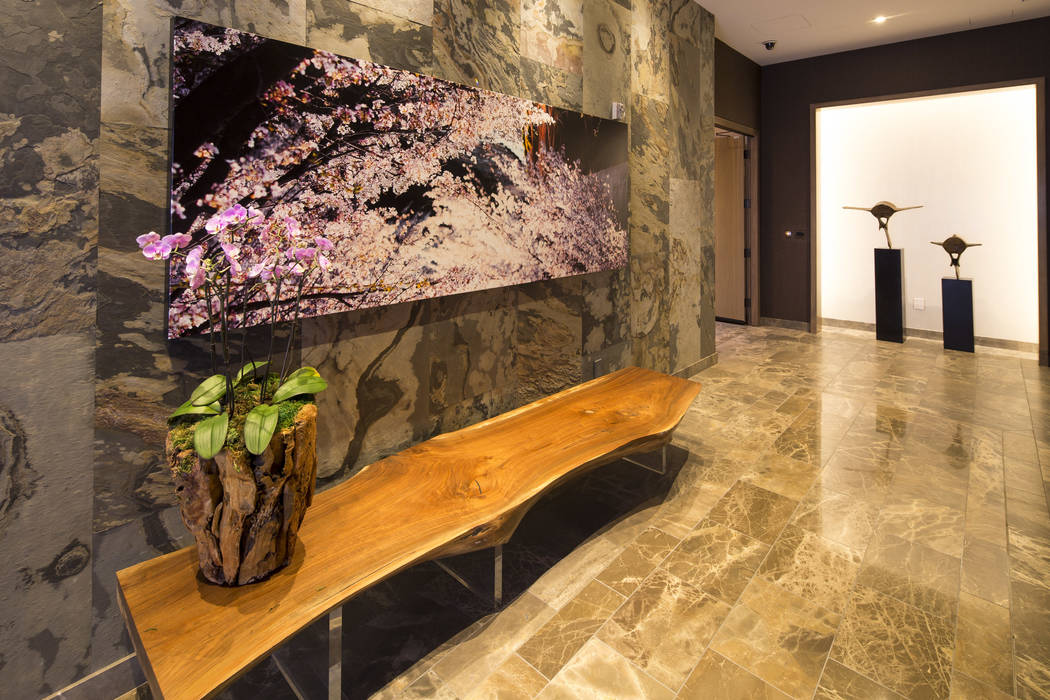The elevator room to the three-bedroom, 10,300-square-foot Nobu Villa on the rooftop of the Nobu Hotel, a boutique hotel at Caesars Palace in Las Vegas on Thursday, Oct. 4, 2018. Richard Brian Las ...