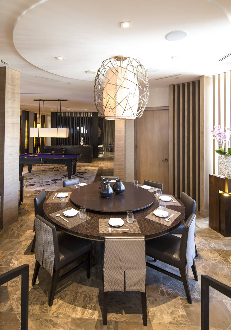 The dining area of the 10,300-square-foot Nobu Villa on the rooftop of the Nobu Hotel, a boutique hotel at Caesars Palace in Las Vegas on Thursday, Oct. 4, 2018. Richard Brian Las Vegas Review-Jou ...
