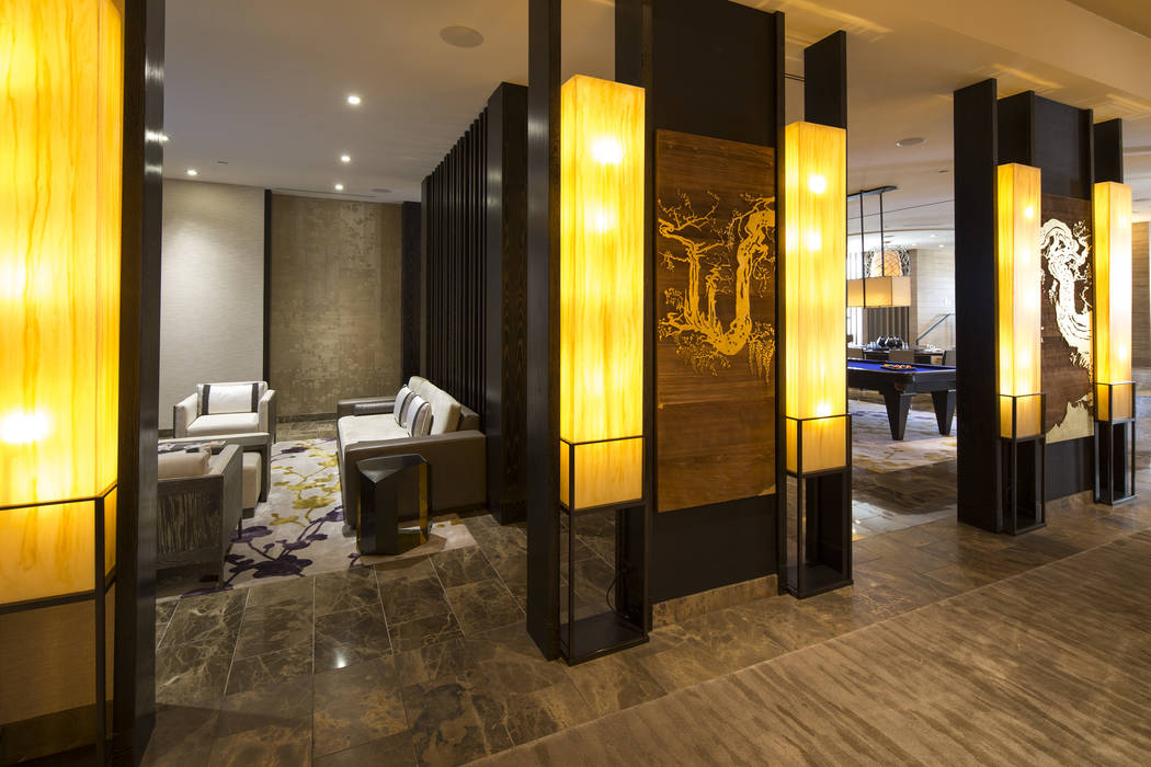 The entryway to the three-bedroom, 10,300-square-foot Nobu Villa on the rooftop of the Nobu Hotel, a boutique hotel at Caesars Palace in Las Vegas on Thursday, Oct. 4, 2018. Richard Brian Las Vega ...