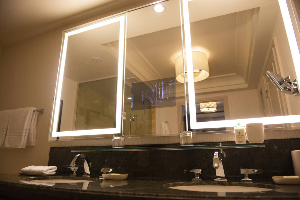Bathroom in the Sunrise and Sunset Suite at the Four Seasons Hotel Las Vegas, Thursday, Oct. 4, 2018. Caroline Brehman/Las Vegas Review-Journal
