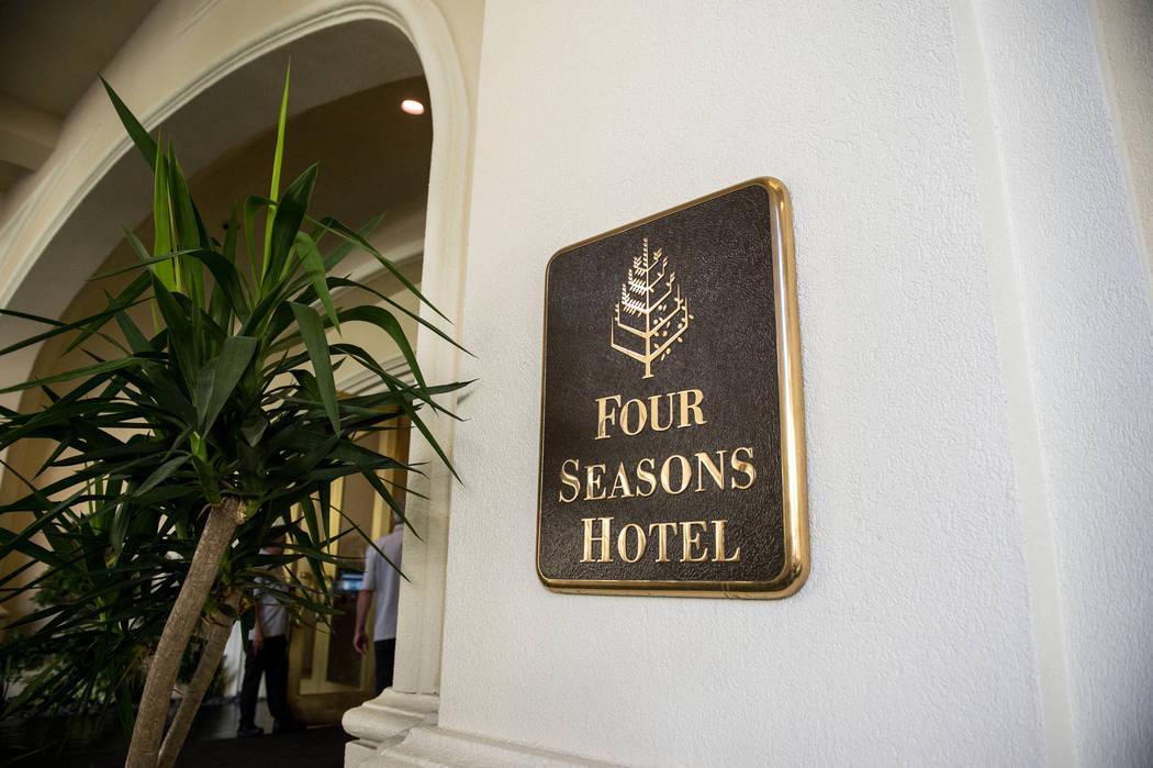 Outside entrance at the Four Seasons Hotel Las Vegas, Thursday, Oct. 4, 2018. Caroline Brehman/Las Vegas Review-Journal