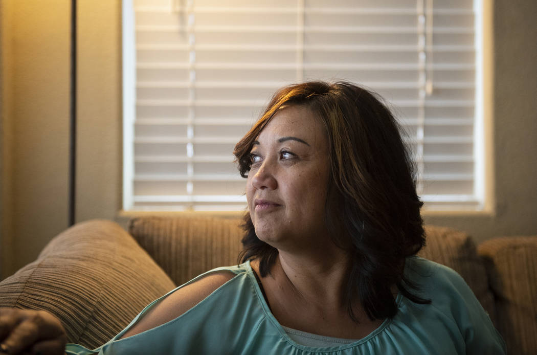Melissa Tolentino of Las Vegas, now in her 50s, was diagnosed with breast cancer in her early 40s. (Caroline Brehman/Las Vegas Review-Journal) @carolinebrehman
