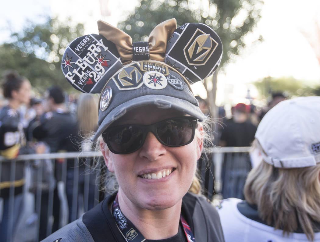 Golden Knights fan Lisa Milliken before the start of Vegas' NHL hockey game with the Philadelphia Flyers on Thursday, Oct. 4, 2018, at T-Mobile Arena, in Las Vegas. Benjamin Hager Las Vegas Review ...