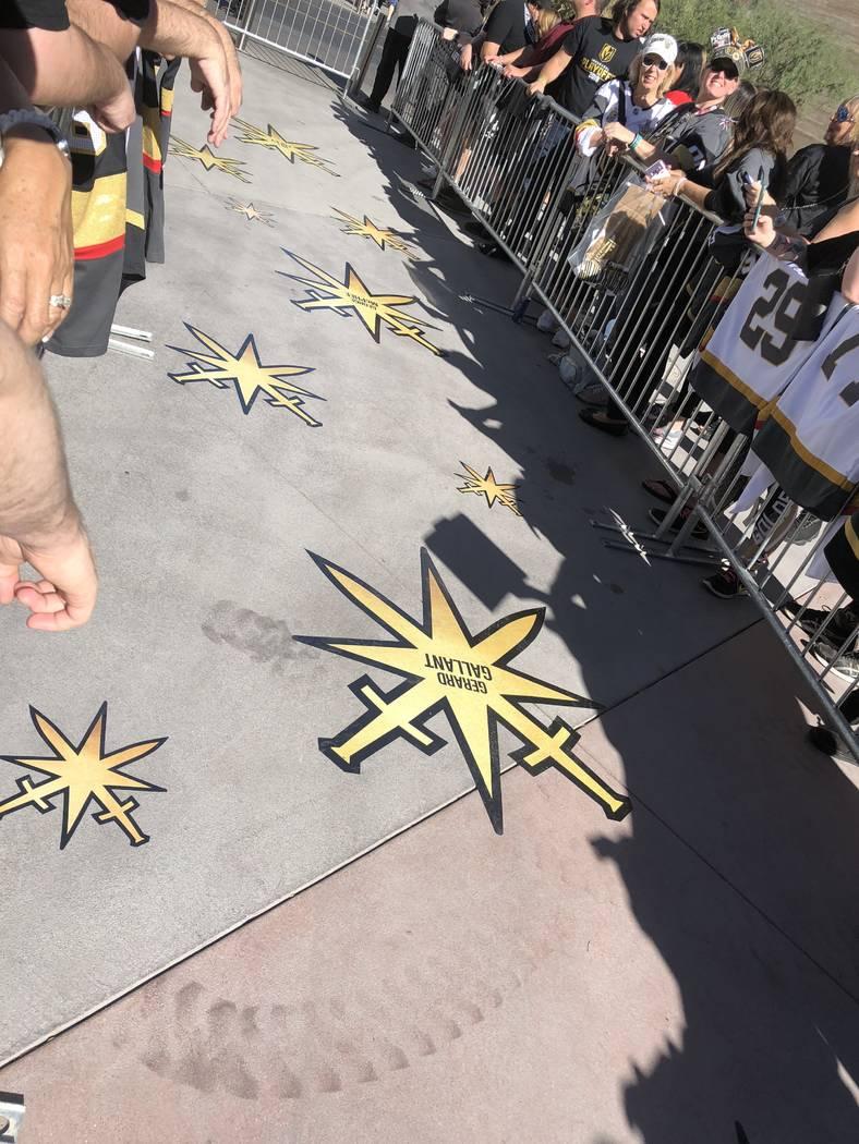 The Gold Carpet at T-Mobile Arena is shown on Thursday, Oct. 4, 2018. (John Katsilometes/Las Vegas Review-Journal) @JohnnyKats