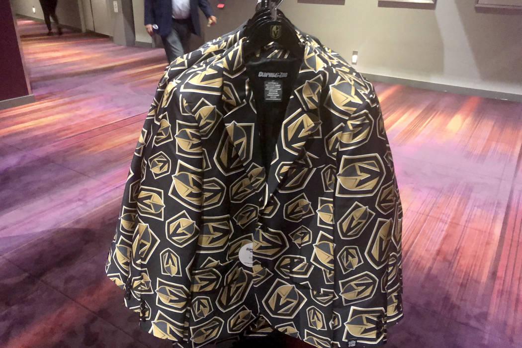 New Vegas Golden Knights jackets are shown at T-Mobile Arena on Thursday, Oct. 4, 2018. (John Katsilometes/Las Vegas Review-Journal) @JohnnyKats