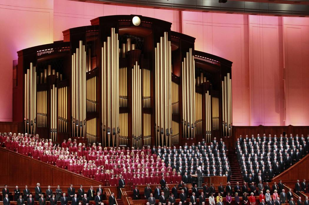 "The Mormon Tabernacle Choir has been renamed to drop the word ""Mormon,"" showing that the church's new president is serious about ending shorthand names for the faith. (AP Photo/George Frey)"