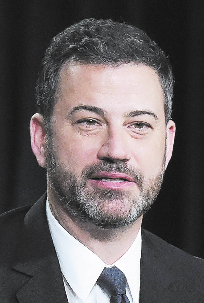"""Jimmy Kimmel participates in the """"Jimmy Kimmel Live and 90th Oscars"""" panel during the Disney/ABC Television Critics Association Winter Press Tour on Monday, Jan. 8, 2018, in Pasadena, Ca ..."""