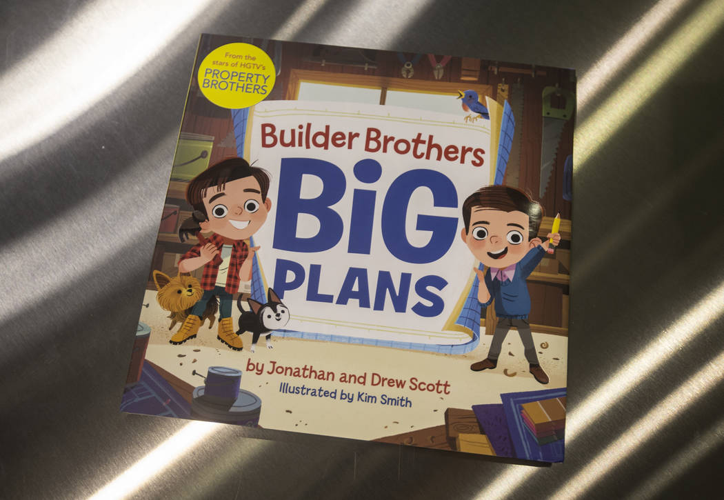 """A copy of Jonathan and Drew Scott's new children's book """"Builder Brothers Big Plans"""" at a book signing at Discovery Children's Museum on Monday, Oct. 8, 2018, in Las Vegas. Benjamin Hage ..."""