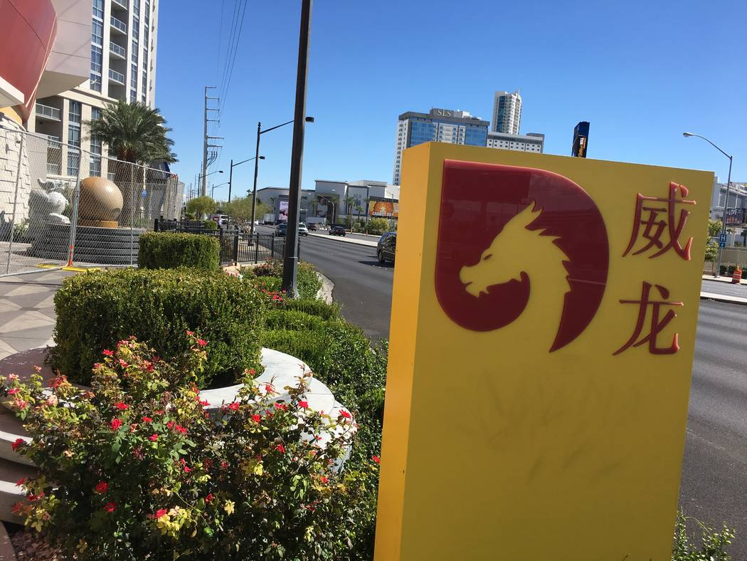 A sign for the shuttered Lucky Dragon hotel-casino, at 300 W. Sahara Ave. in Las Vegas, is seen Friday, Oct. 5, 2018. (Eli Segall/Las Vegas Review-Journal)