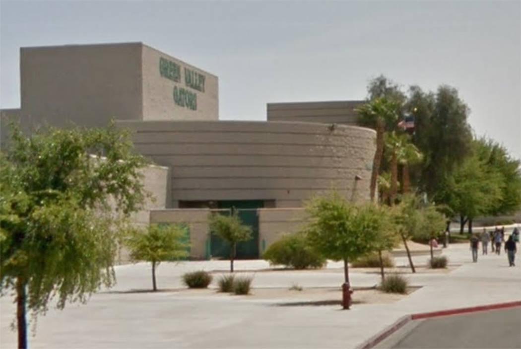 Green Valley High School in Henderson (Google maps)