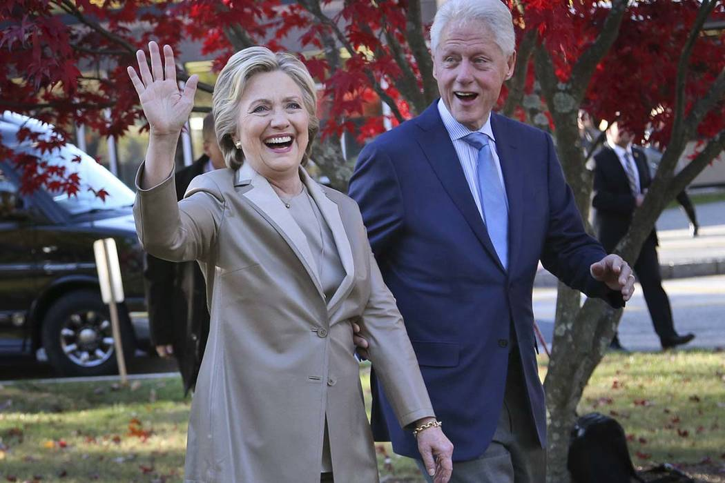 """Hillary and Bill Clinton announced on Monday they will visit four cities in 2018 and nine in 2019 across North America in a series of conversations dubbed """"An Evening with President Bill Clinton ..."""