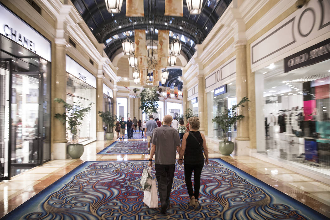 Shoppers at the Bellagio on Tuesday, Oct. 2, 2018, in Las Vegas. Benjamin Hager Las Vegas Review-Journal @benjaminhphoto