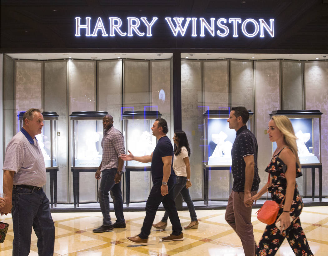 Shoppers pass by Harry Winston on Tuesday, Oct. 2, 2018, at Bellagio, in Las Vegas. Benjamin Hager Las Vegas Review-Journal @benjaminhphoto