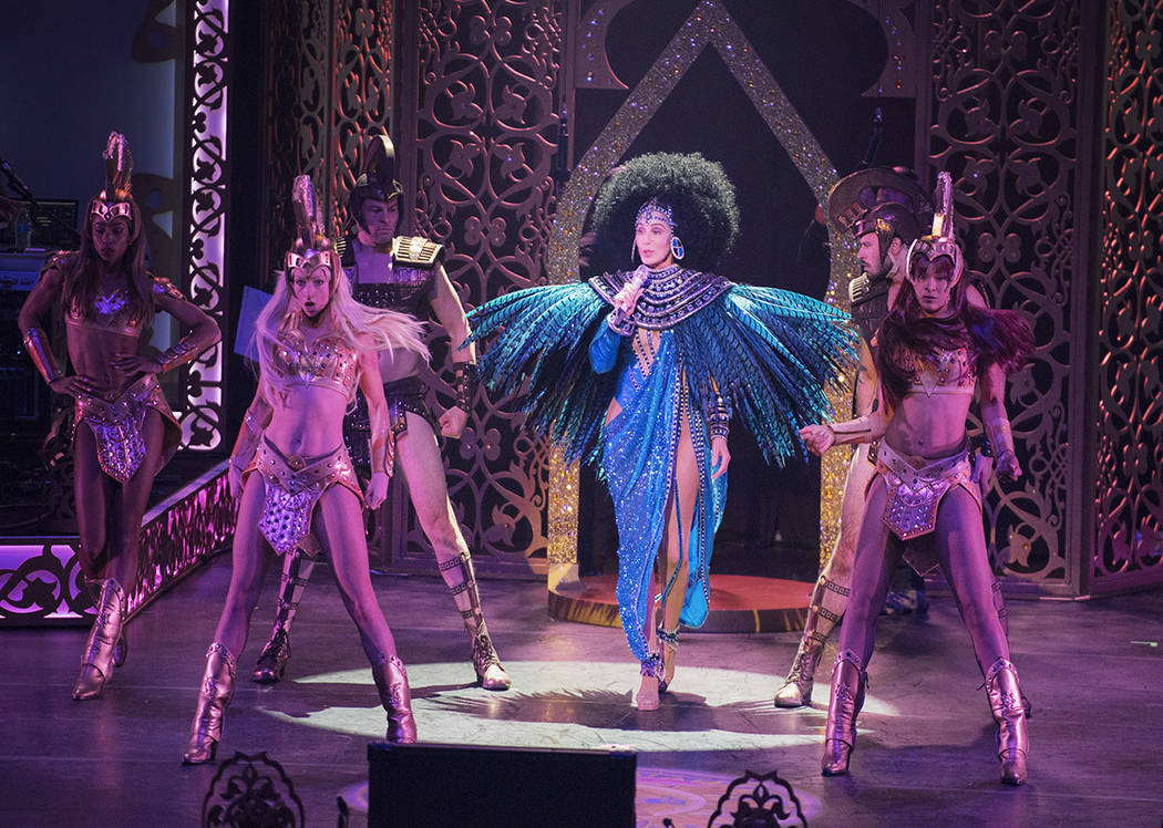 Cher's show at the Park Theater opened with a production number as big as her wig. (Andrew Macpherson, Courtesy)