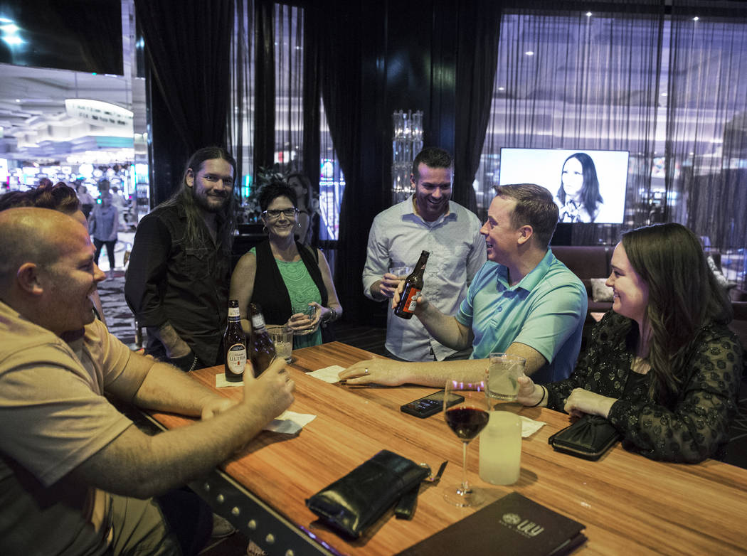 Patrons enjoy a drink at Lily Bar on Tuesday, Oct. 2, 2018, at Bellagio, in Las Vegas. Benjamin Hager Las Vegas Review-Journal @benjaminhphoto