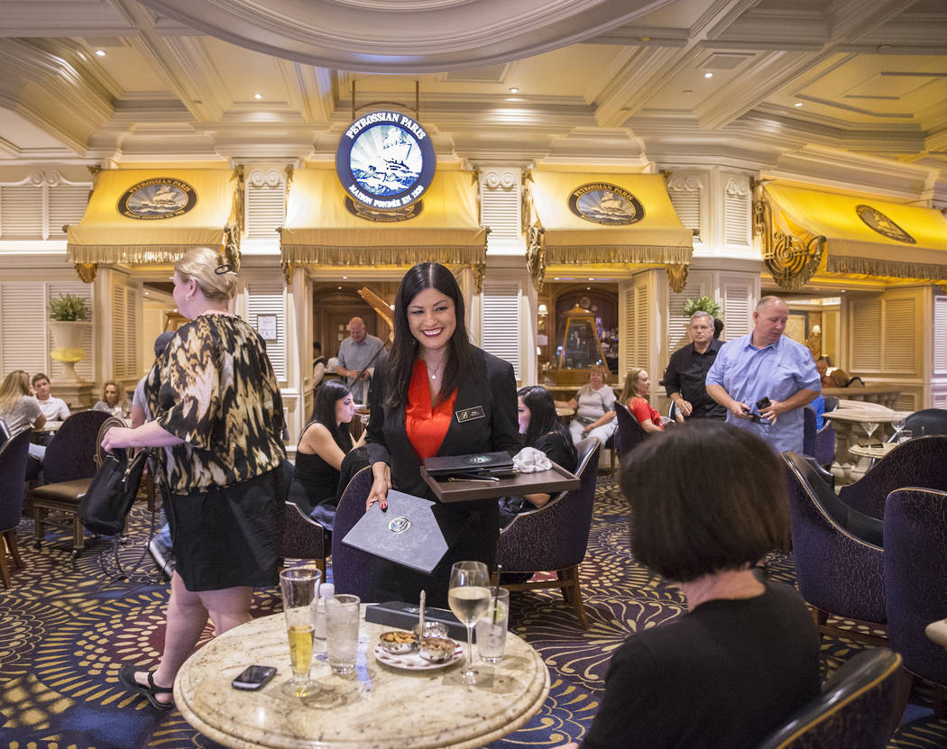 Patrons have lunch at Petrossian Bar on Tuesday, Oct. 2, 2018, in Las Vegas. Benjamin Hager Las Vegas Review-Journal @benjaminhphoto