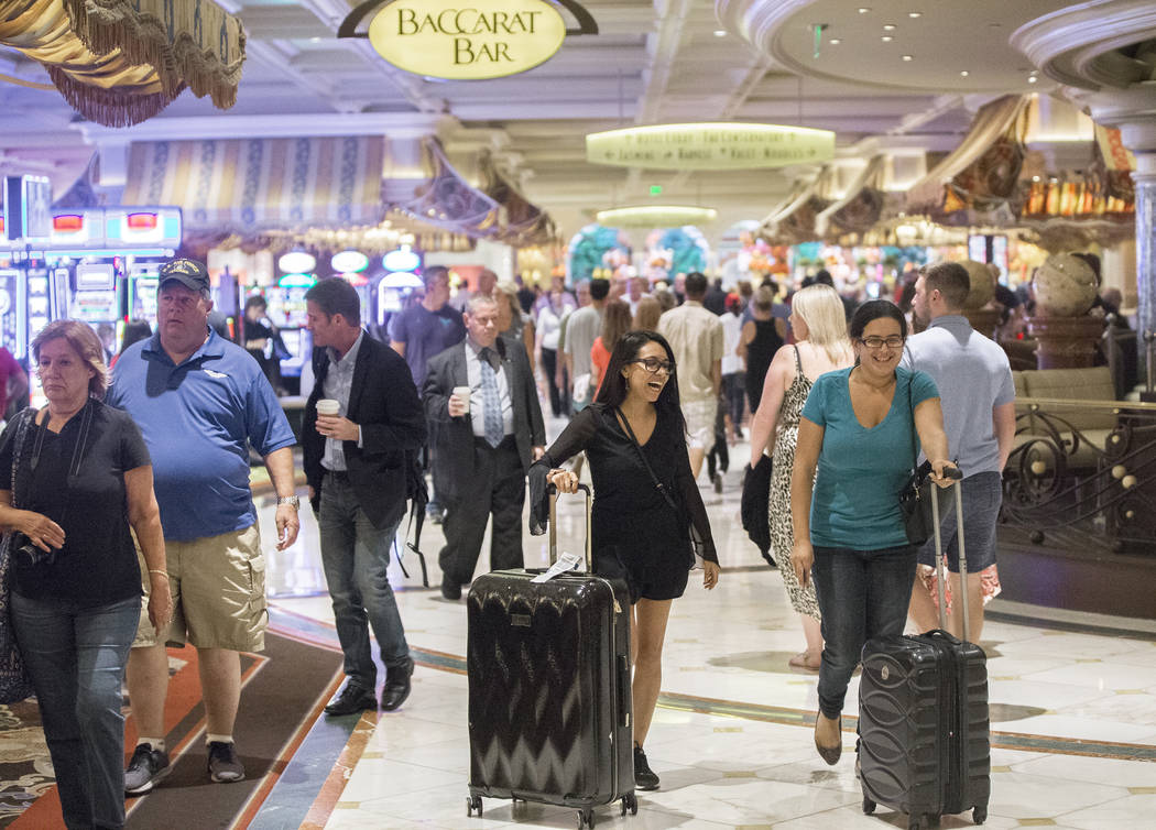 The halls of the Bellagio are packed on Tuesday, Oct. 2, 2018, in Las Vegas. Benjamin Hager Las Vegas Review-Journal @benjaminhphoto