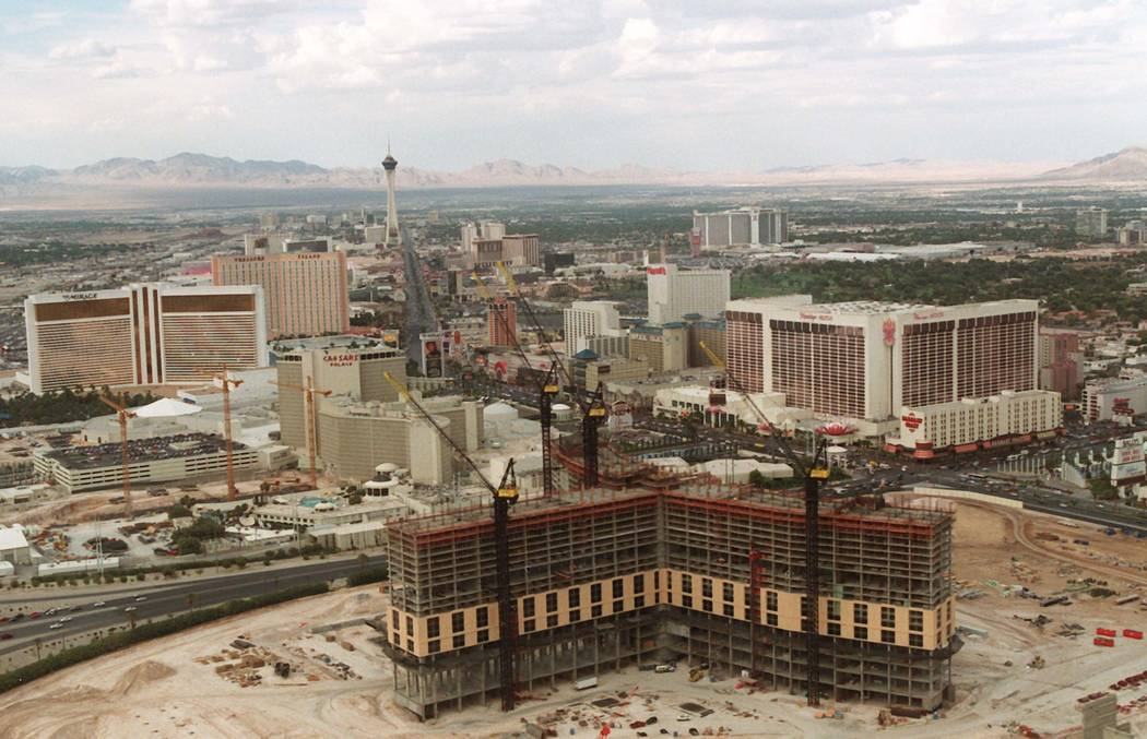 Bellagio construction in August 1996. (RJ File Photo)