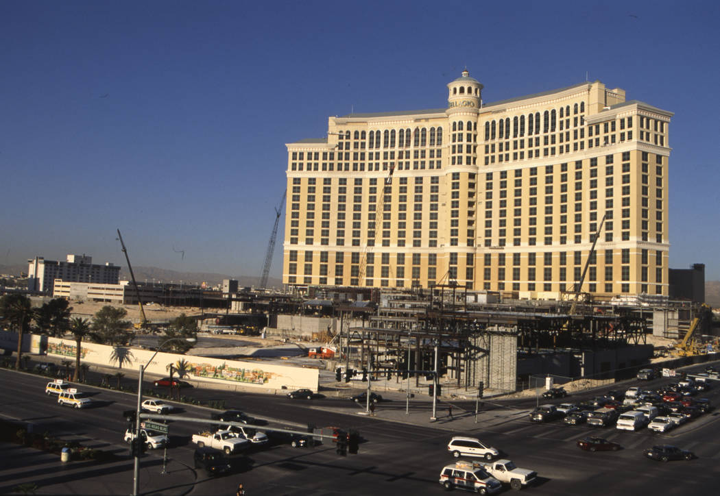 The exterior of the Bellagio in August 1997. (RJ File Photo)