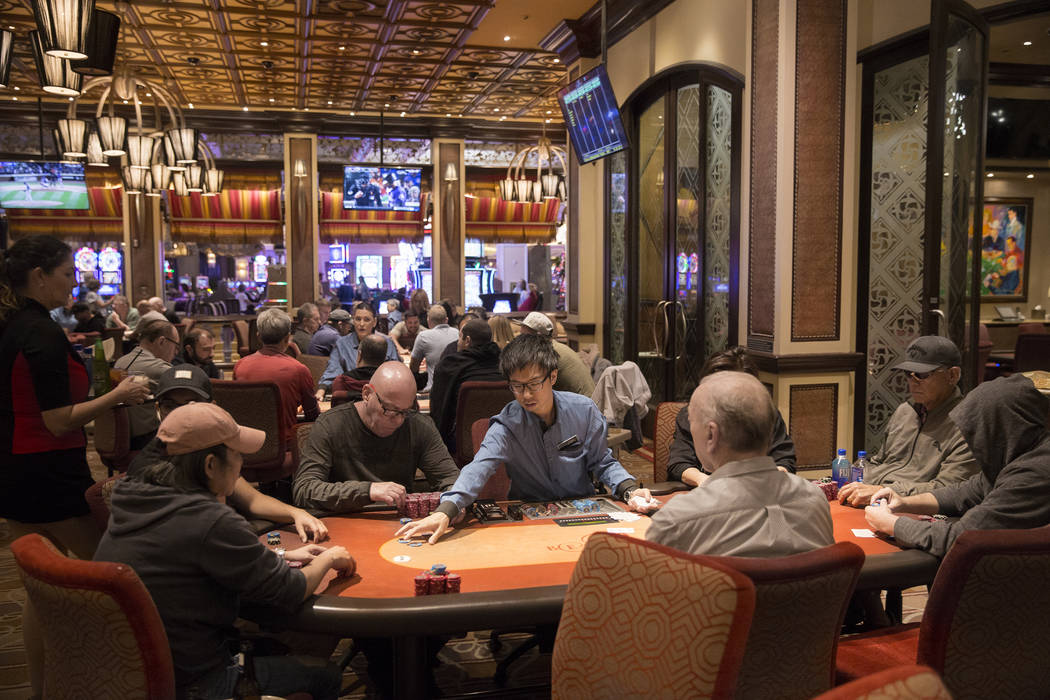 Gamblers try their hand in the High Stakes Poker Room on Tuesday, Oct. 2, 2018, at Bellagio, in Las Vegas. Benjamin Hager Las Vegas Review-Journal @benjaminhphoto
