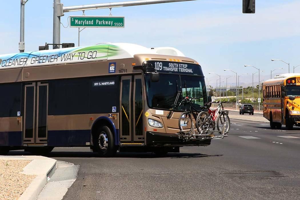 An RTC bus (Bizuayehu Tesfaye/Las Vegas Review-Journal) @bizutesfaye