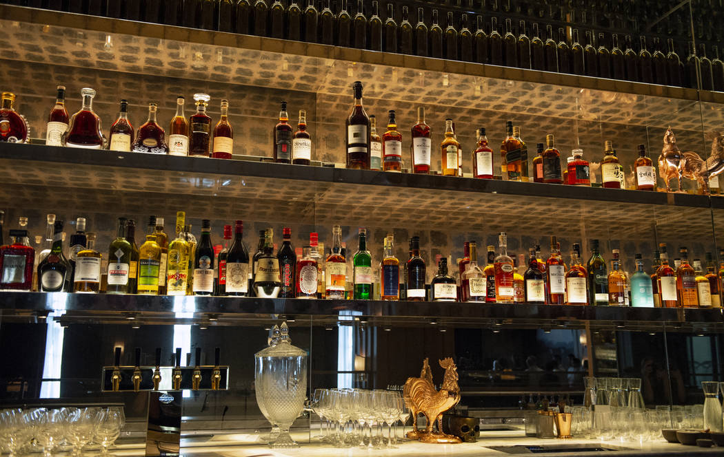The bar at NoMad Bar and Restaurant at Park MGM in Las Vegas, Monday, Oct. 8, 2018. Caroline Brehman/Las Vegas Review-Journal @carolinebrehman