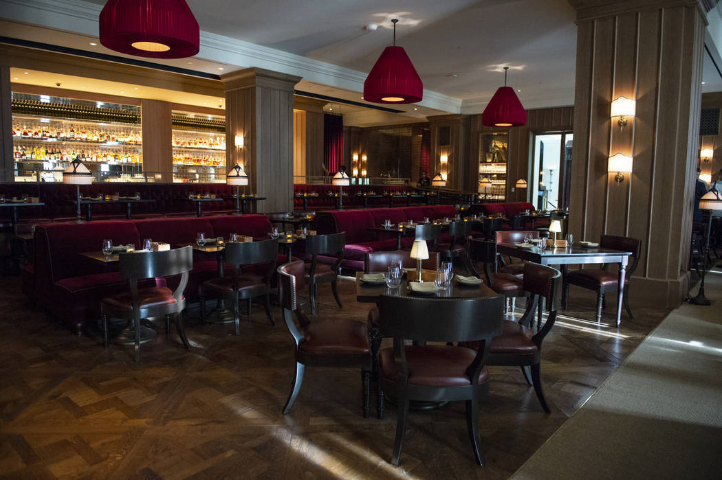 The dining area at NoMad Bar and Restaurant at Park MGM in Las Vegas, Monday, Oct. 8, 2018. Caroline Brehman/Las Vegas Review-Journal @carolinebrehman