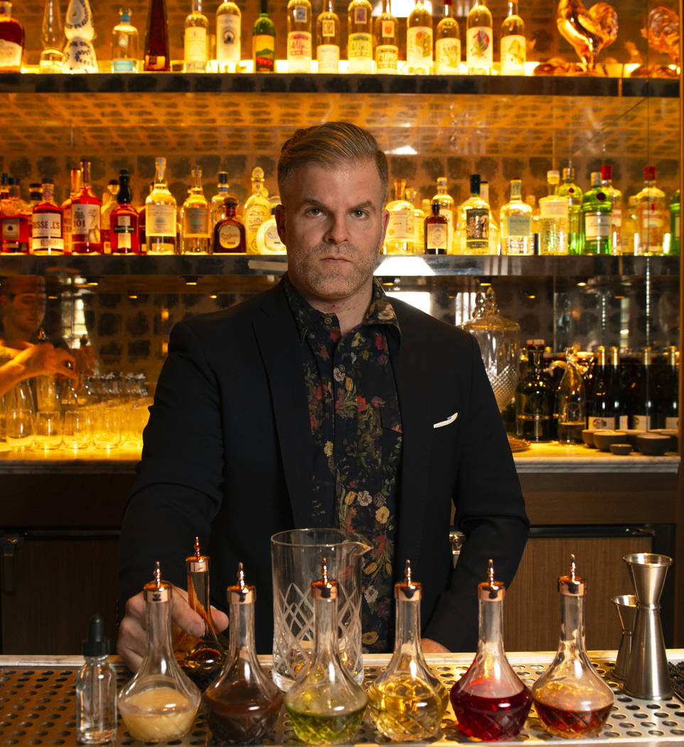 Leo Robitschek, the managing partner and bar director, poses for a photograph at the NoMad Bar and Restaurant in Park MGM in Las Vegas, Monday, Oct. 8, 2018. Caroline Brehman/Las Vegas Review-Jour ...