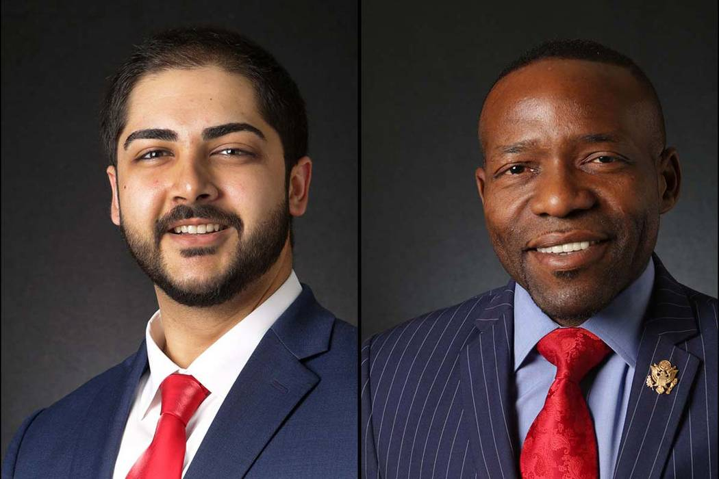 Jason Burke, left, and Mack Miller, Republian candidates in the primary for Assembly District 5 (Las Vegas Review-Journal)
