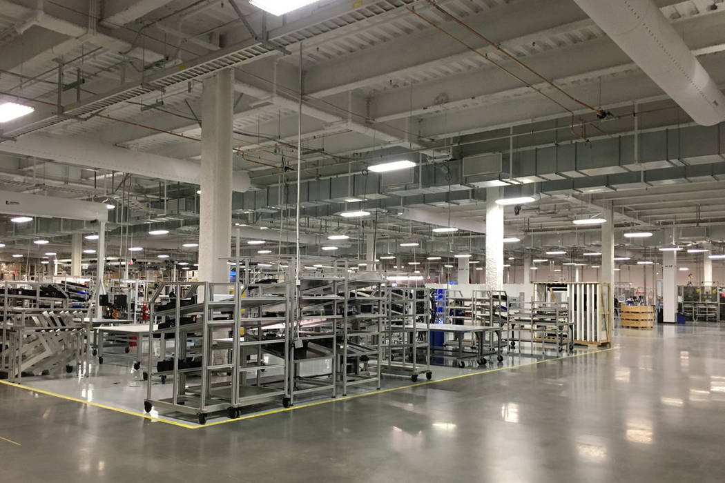 Inside the Tesla Gigafactory in Sparks. (Sean Whaley/Las Vegas Review-Journal)