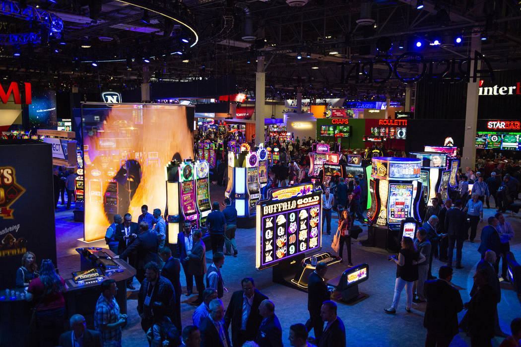 About 30,000 people fill the show floor at the 18th annual Global Gaming Expo at Sands Expo and Convention Center in Las Vegas, Tuesday, Oct. 9, 2018. Caroline Brehman/Las Vegas Review-Journal @ca ...