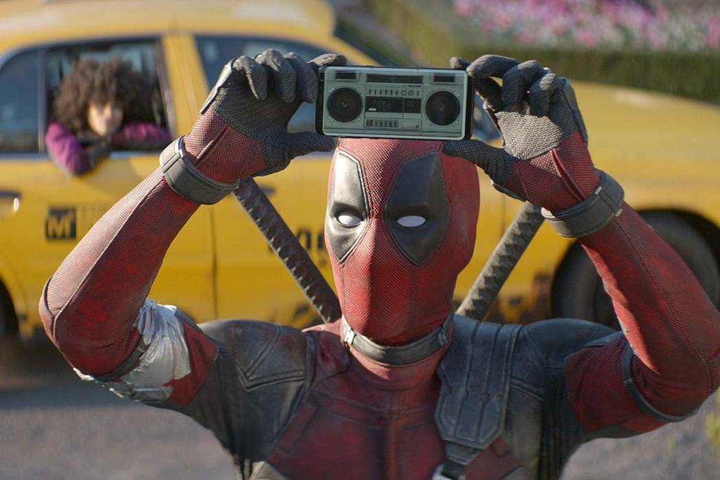 """Ryan Reynolds in a scene from """"Deadpool 2."""" Fox's """"Deadpool 2"""" brought in $125 million according to studio estimates Sunday, May 20, 2018, and ended the three-week reign of Disney's """"Ave ..."""